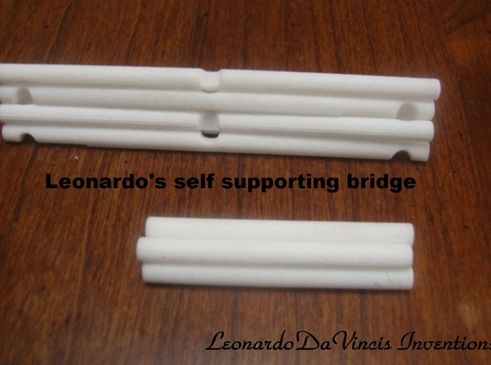 Leonardo da Vinci's Self Supporting Bridge 3d printed