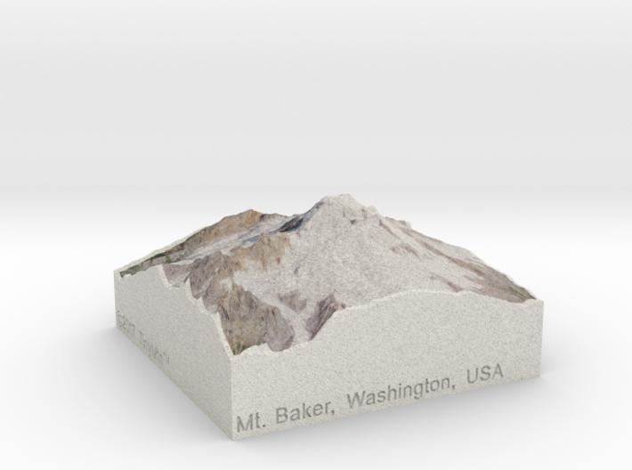 Mt. Baker, Washington, USA, 1:100000 Explorer 3d printed