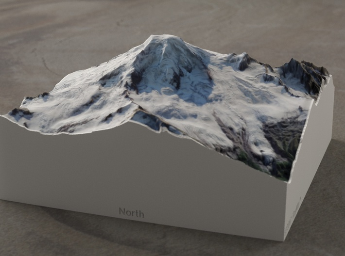 Mt. Baker, Washington, USA, 1:50000 Explorer 3d printed