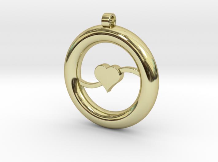 Ring Pendant - Heart 3d printed
