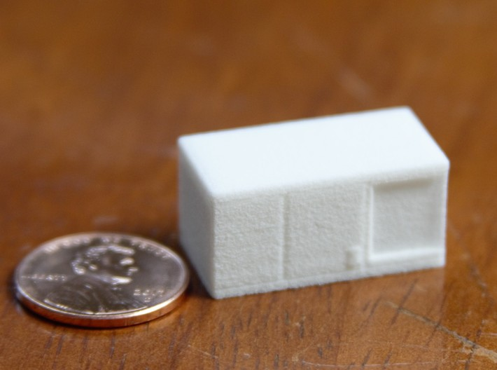 HO scale rooftop air conditioning unit 3d printed