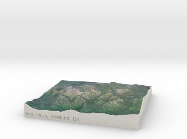 Ben Nevis, Scotland, UK, 1:100000 3d printed