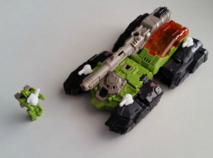"""Broadcannons"" Transformers Turrets (2mm hole) 3d printed Titans Return Hardhead"