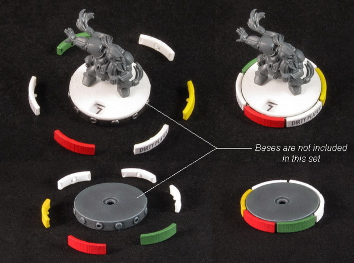 Fantasy Football Skill tabs (36-48 pcs) 3d printed White Strong Flexible, painted. Miniature and bases not included :)