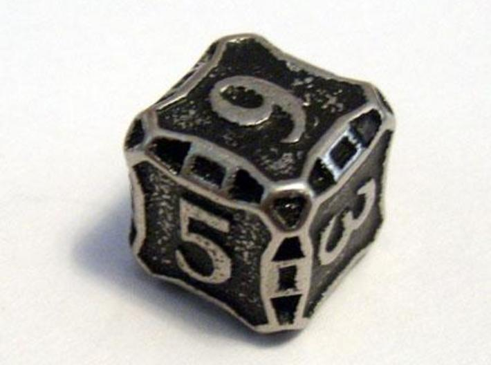 Die6 3d printed A Die6 in stainless steel and inked.