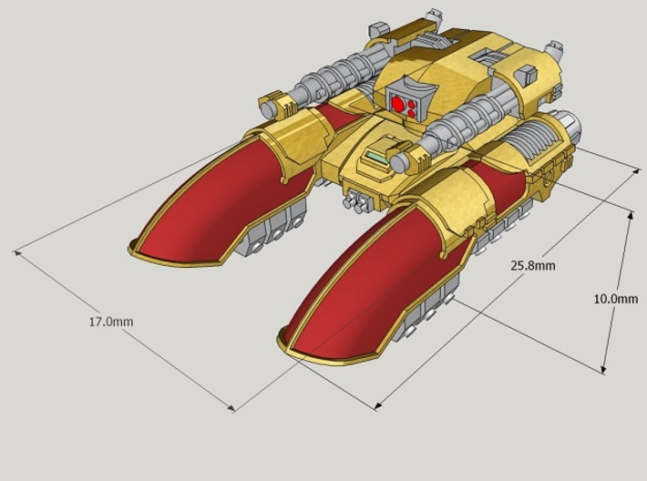 6mm Claudius Anti-Grav Tanks (4pcs) 3d printed