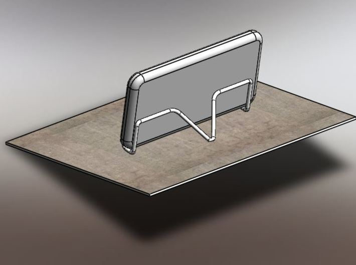 Smartphone Stand 3d printed Stand on table and phone