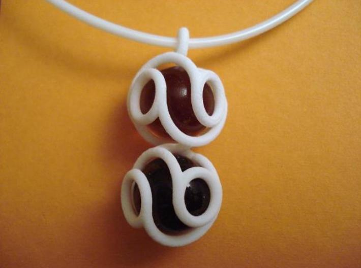 Marble Pendant v3 3d printed Picture of the actual printed object