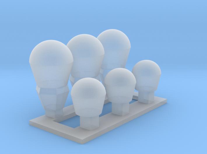 1/350 SATCOM Domes USC-38 and WSC-65 MSP30-006 3d printed