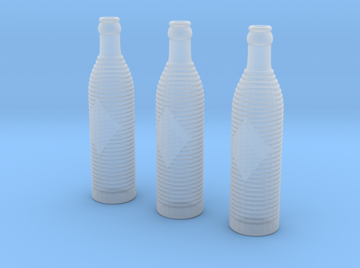 Orange Crush Soda Bottles 3d printed