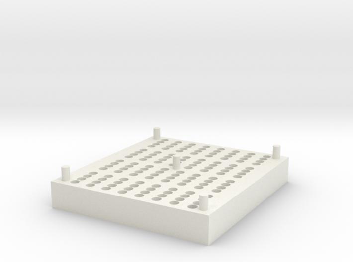RotoGene® Strip Tube Storage Block 3d printed