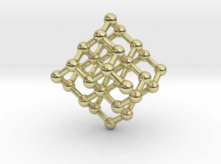 Diamond Molecule Necklace 3d printed