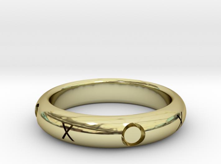 XOXO Ring 3d printed