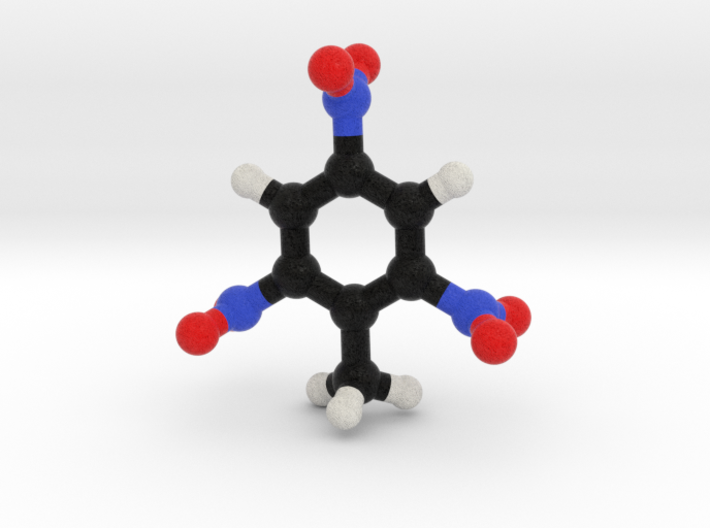 TNT Molecule Model, 3 Sizes. 3d printed