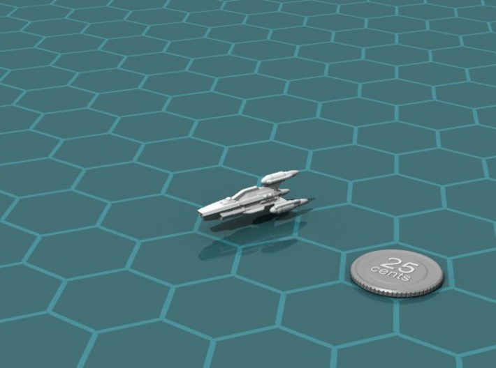 G'jhekk Scout 3d printed Render of the model, with a virtual quarter for scale.