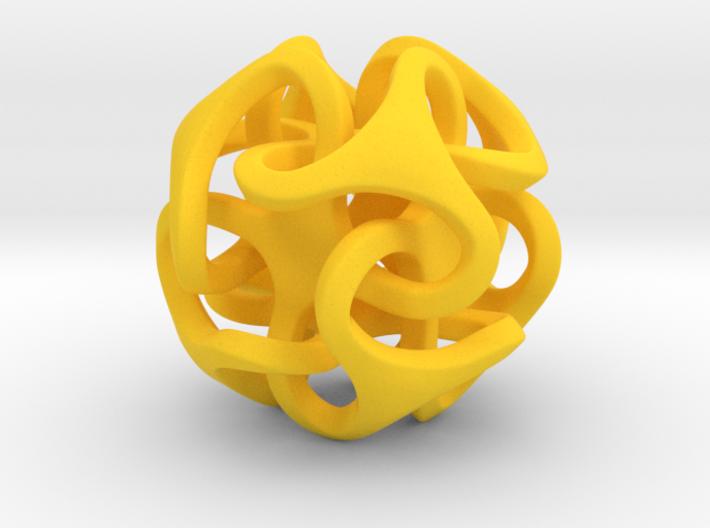 Interlocking Ball based on Octahedron 3d printed
