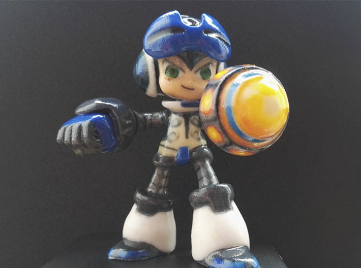 Beck (Mighty No. 9) 3d printed Coated full color sandstone Beck