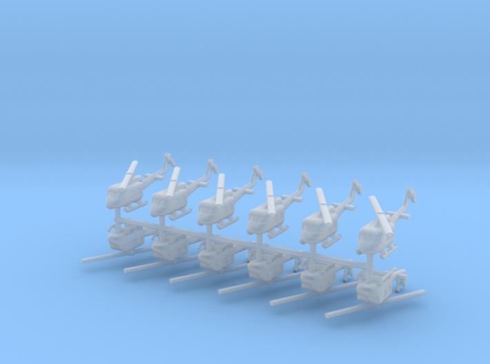 1/550 UH-1 Huey (x12) 3d printed
