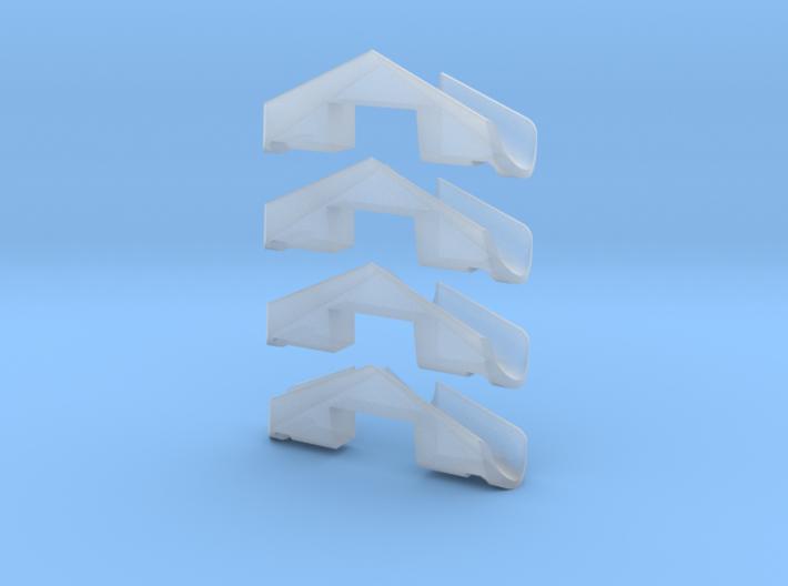 2 Pair MZ snow plows for Hispatren 333 / Mz 3d printed