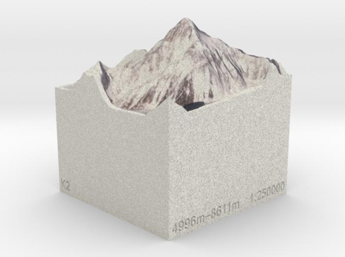 K2, Pakistan/China, 1:250000 Explorer 3d printed