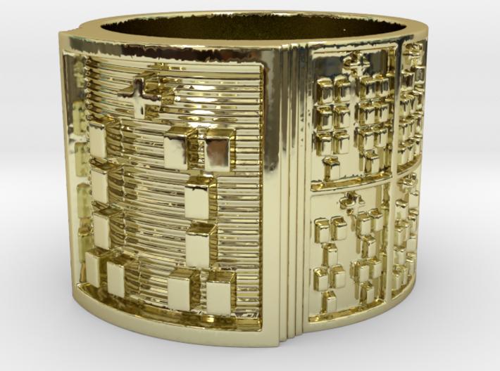 IWORIGUNDA Ring Size 14 3d printed