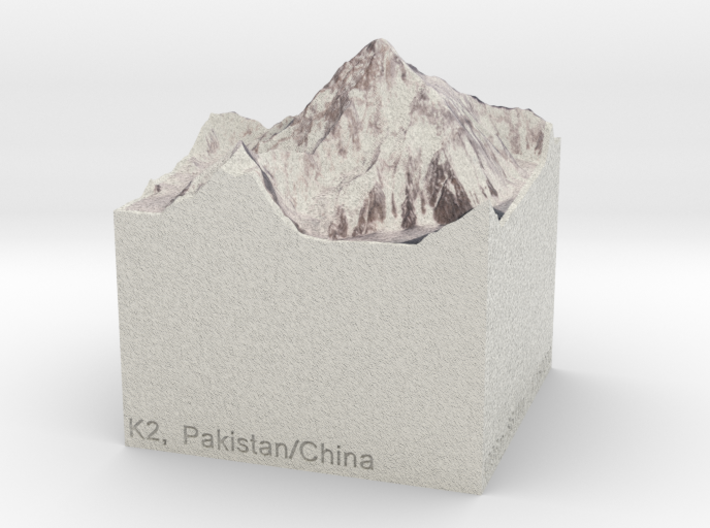 K2, Pakistan/China, 1:150000 Explorer 3d printed