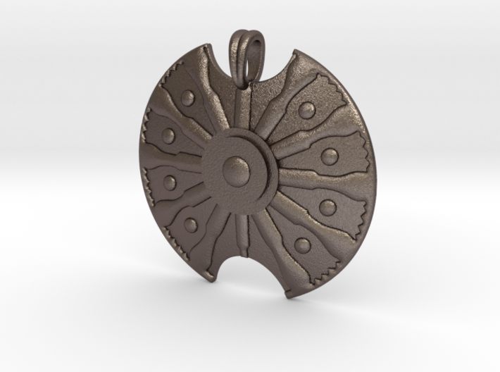 Troy Shield Pendant 3d printed