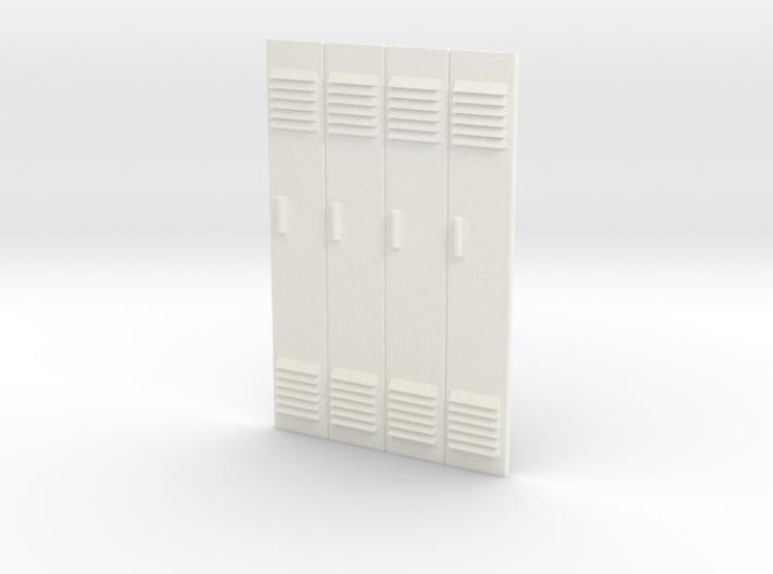 1/24 - Block of 4 Locker Fronts 3d printed