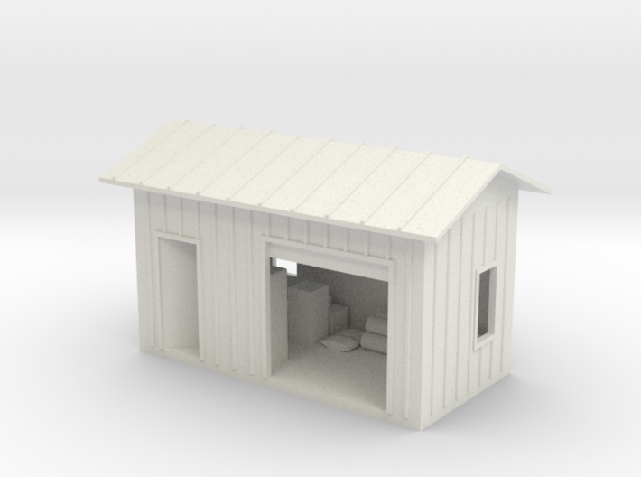 HO Shed With Lighting 3d printed