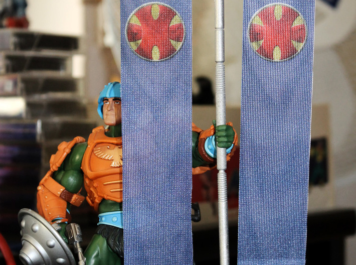 Grayskull Standard 3d printed Photo of the actual product. Figure and flags not included.