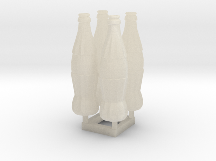 Soda Bottle 4x 20cl/6.7oz 28mm tall 3d printed