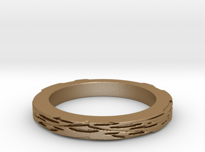 cheese leaves 3mmH Ring Size 8 3d printed