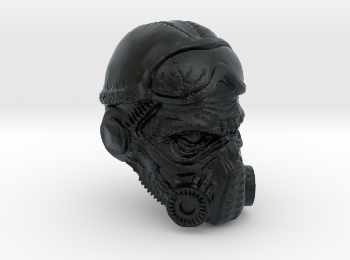 1/18 Scale Masked Head 01 3d printed