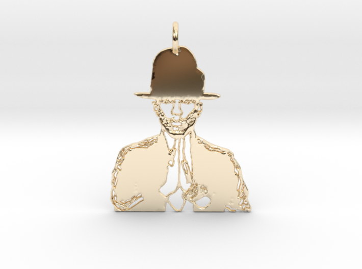 Pharrell Williams Pendant 3d printed