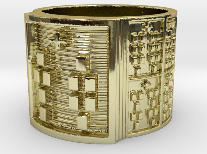 ODITAKOFEÑO Ring Size 14 3d printed
