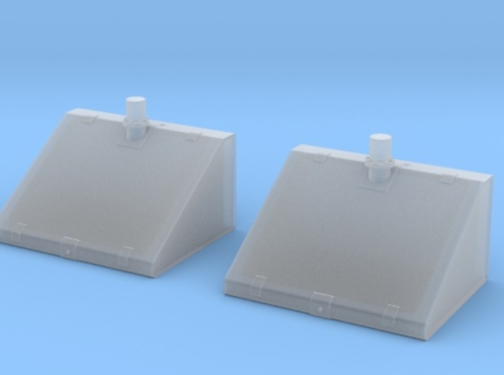 1/30 Tiger I Upper Fuel Tanks 3d printed