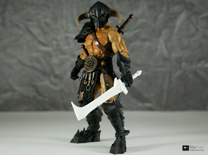 Orc Hunter sword (style 2) for Mythic Legions 3d printed