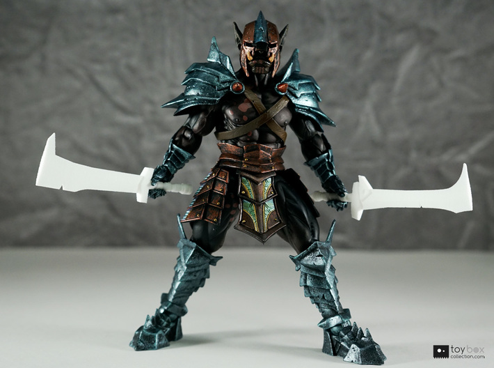 Orc Hunter swords (x2) combo for Mythic Legions 3d printed