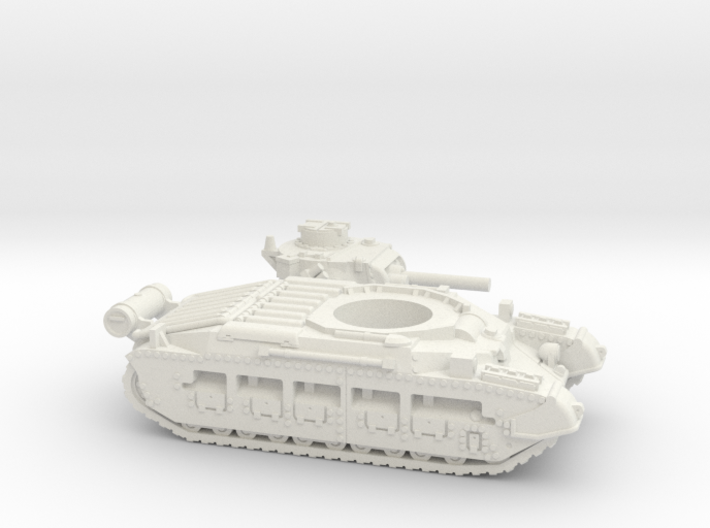 Matilda II with Fuel tank (British) 1/100 3d printed