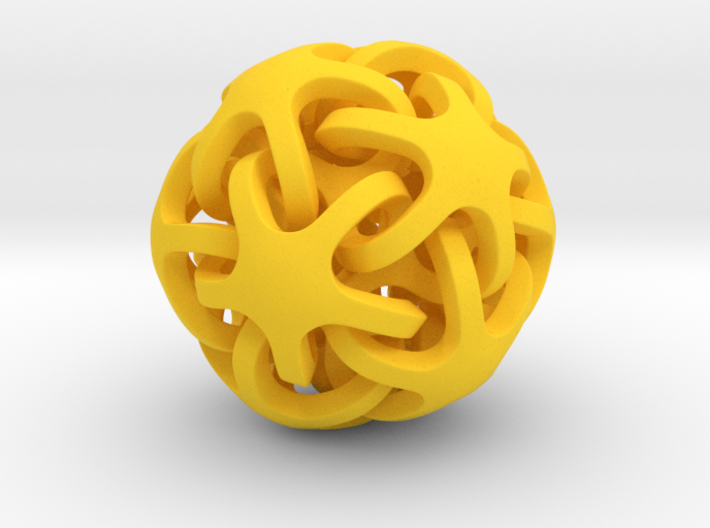 Interlocking Ball based on Dodecahedron 3d printed