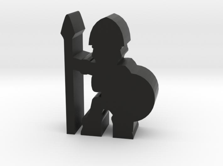 Game Piece, Skeleton Soldier, Spear 3d printed