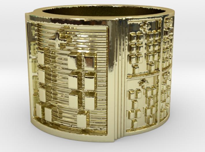 OKANAOGUNDA Ring Size 13.5 3d printed