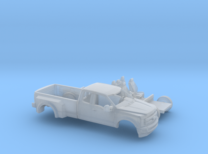 1/160 2017 Ford F-Series Ext Cab Dually Kit 3d printed