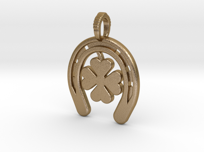 Horse Shoe With Luck Charm 3d printed