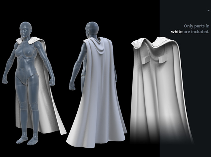 FB01-Cape-04s 6inch 3d printed
