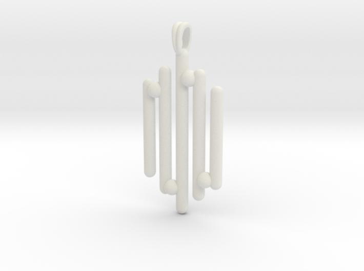 Eclectic Pendant Symbolic Jewelry Pendant 3d printed