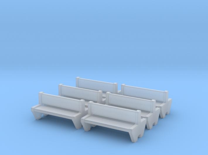 TJ-H04555x6 - bancs de quai en beton, doubles 3d printed
