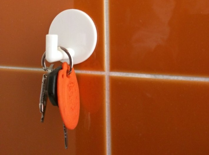 Key-Chain Thought 3d printed ..bathroom in the '70-style..