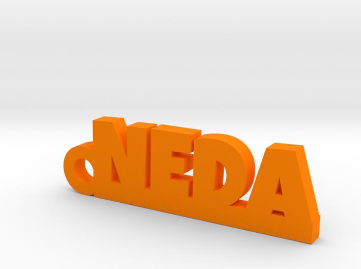 NEDA Keychain Lucky 3d printed