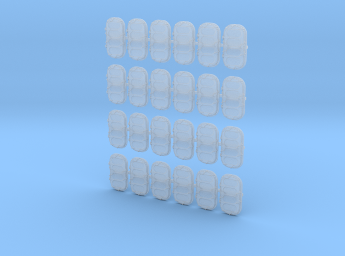 1/96 WW2 Royal Navy Water Tight Doors x24 3d printed 1/96 WW2 Royal Navy Water Tight Doors x24